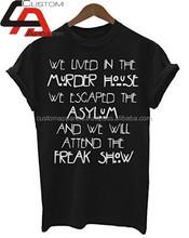 Custom OEM screen printing t shirt high quality/New t shirt design your own t shirt print t-shirt , t shirt wholesale ,t shirt