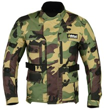 Green Camo Camouflage Cordura Motorbike Motorcycle Armoured Waterproof Jacket