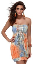 Original Design Ladies Sleeveless Beaded Summer Dress western style