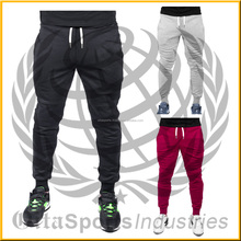 quality 80% cotton 18% polyester 2% elastane fleece 300-320 gsm tight ankle cuff tapered fit gym aesthetics cuffed sweat pant