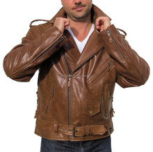 Leather Motorcycle Jackets / Biker Wear/ Vented Motorcycle Jackets DG-3015