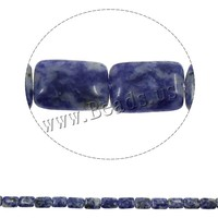 14x19x6mm Rectangle Blue Spot Stone Beads