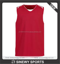 2015 High quality Hot sell Basketball Jersey/100% Polyester Jersey/Cheap basket Ball Jerseys Red color