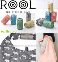 Plastic handle grip Polyester ECO Bag foldable type with Magnet