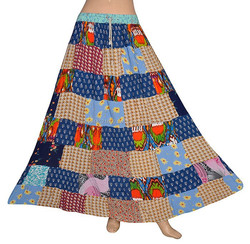 Patchwork Long Skirt Gypsy Hippie Skirts With Patch Work Designer Indian skirt 2015