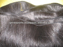 2014 hot sale fashion synthetic machine weft hair from india