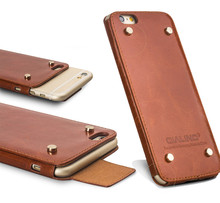 2015 NEW ARRIVAL top layer cover with magnet flip leather case for iphone 6