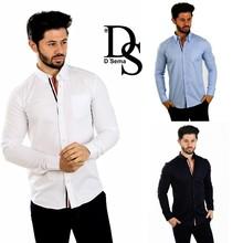 Fashion Mens Shirts Long Sleeve Style Dress D`Sema Modell 2