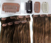cheapest price 15clips 7pieces per set beauty straight clip on human hair extensions