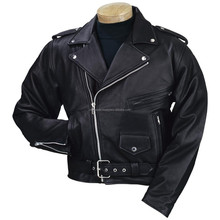 2015 New fashion Vented Scooter Jacket with Dual Gun Pockets and Racing Stripes for mens motorbike leather jacket