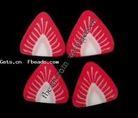 3D Nail Art Decoration Polymer Clay Strawberry red 6x6x0.5mm 5000PCs/Bag Sold By Bag