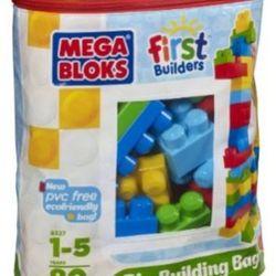 Mega - Bloks - First - Builders - Big - Building - Bag, 80-Piece (Classic)