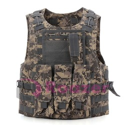 Tactical Military Army Paintball Combat Assault Vest Adjustable ACU Camo