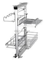 China supplier storage shelf ChuZhiLe Foshan ball bearing slide cabinet basket rack distributor CH-080