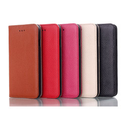 Genuine leather Flip case with credit card holder for iphone 6