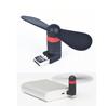 Portable Mobile Phone Micro Usb Fan Mini Flexible Mini USB Cooling Fans for External Power Bank &Cellphone &Tablet PC Energy Sav