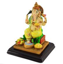 Indian Hand Painted Great Wooden God Figure 2015/Handmade Ganesh Statue/Wood Carving God Figure/Wooden Indian Handicraft