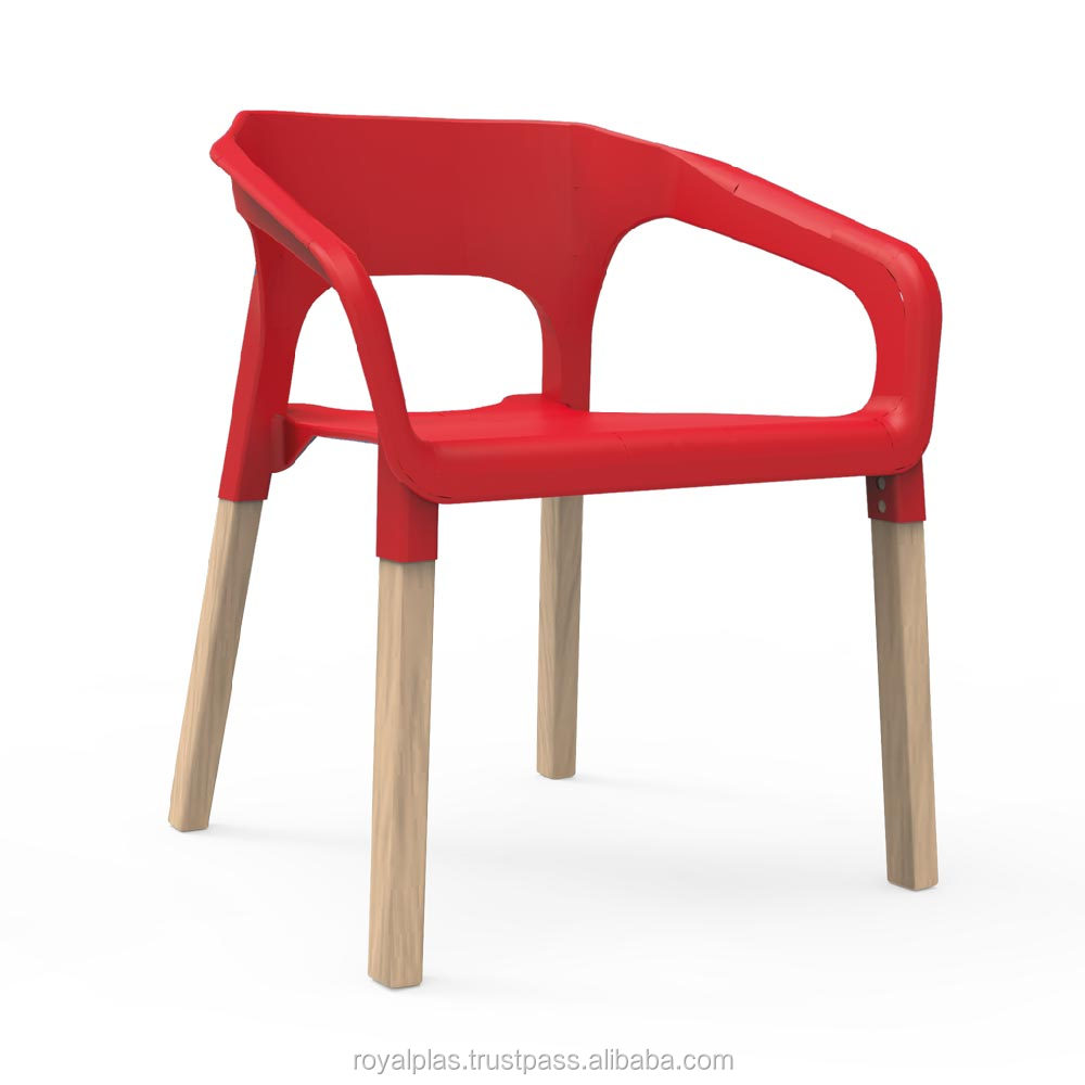 easy plastic chair with wooden legs buy easy plastic chair product