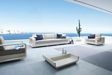 New modern luxury garden sofa set furniture - poly rattan sofa set furniture - Outdoor sofa furniture
