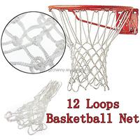 New White Durable Nylon 4mm 12 Loops Basketball Net Sport Mesh Rim Goal