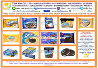 OREO CHOCOLATE TIDA KIM BISCUIT CANDY KRAF - COOKIES CREAM FOOD ORIGIN POTATOES PRINGES - MINI OREO PACK