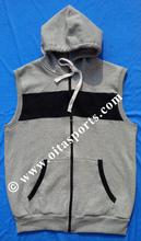2015 latest blank sleeveless hoodies ,Hotting Selling Fashion Men Gym Blank Sleeveless Hoody