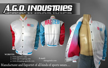 Fashion Design Custom Sublimation Print Mens Satin Baseball Varsity Jacket Quilted College Team Jackets