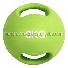 Dual Handle Rubber medicine Ball