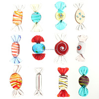 12pcs/set Brand New Vintage Glass Sweets Xmax Wedding Candy Christmas Ornaments Fit For Decorations Pattern Randomly