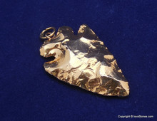 18K Gold Plated Arrowhead Pendant Fully Gold plated stone pendants