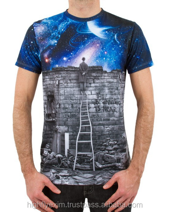 All over cheap wholesale custom made sublimation printing for Wholesale custom printed t shirts