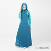 Silk Route Islamic Clothing Abaya Jilbab Islamic Design House - Brilliant Blue Jilbab