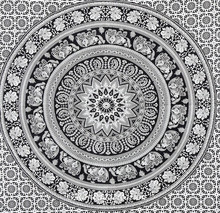 Black and White mandala tapestry hippy tapestry dorm tapestry wall hanging Wall decor Indian wall hanging