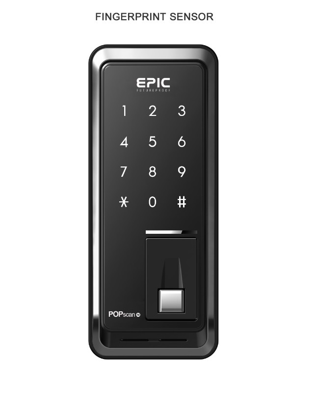 EPIC POPSCAN FINGERPRINT Digital Door Lock