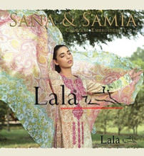 Sana Samia 's Crinkle Embroidered Collection Volume-1 by Lala