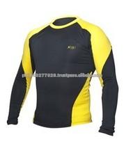 Lycra rash guard camisa