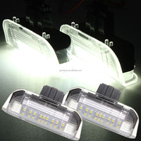 2 x 18 LED White Front Side Door Courtesy Light Laser Projector Logo Lamp For VW Golf/Jetta Passat E-marked