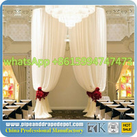 portable events pipe and drape backdrop wedding decoration materials