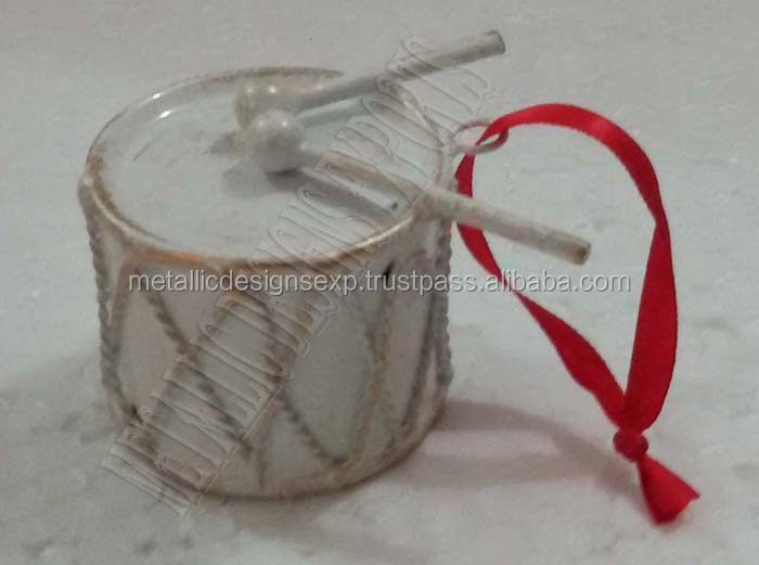 Exclusive christmas metal drum ornaments buy set
