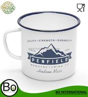 stainless steel enamel mug customized camping mug colored