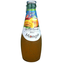 290ml Glass Bottle Basil Seed Drink With Mango Flavor