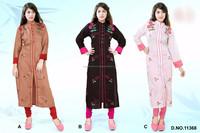 Brown & Black & Baby Pink Color Kurti With Colored Pants Designer Kurtis