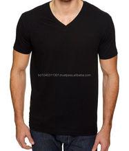 Custom made t shirt whole sale led t-shirt black v-neck t-shirt
