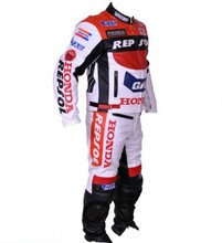 1-Piece REPSOL Leather Suit Motorcycle Racing SUIT Motorbike Biker Jacket Pants