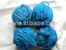 reciclado sari de seda tejido hilado en bolas