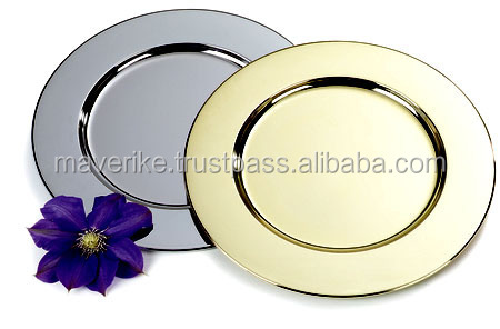 Silver Charger Plate Stainless Steel Charger Plate Stainless Steel Dinner P