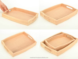 Craft blank for creative work Wooden Tray