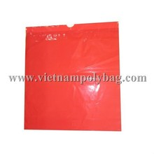 no printing LDPE plastic bag with draw tape handle style