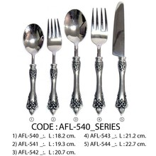 PEWTER HANDLE WITH STAINLESS FORGED TOP FLATWARE