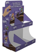 Cardboard countertop Display stand for chocolate,candy,sweet,biscuits